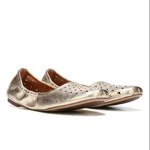 SARTO by Franco Sarto Gold Brewer Leather Flat